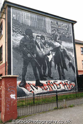 mural bloody sunday bogside derry irish political murals arts misc. republican ira peace civil rights troubles catholic county londonderry doire northern ireland ulster irland irlanda united kingdom british