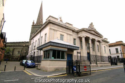bishop st court house londonderry uk law courts legal prosecution british architecture architectural buildings county doire northern ireland ulster irish irland irlanda united kingdom