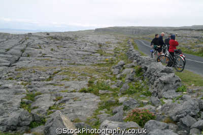 cyclists burren bicycles cycling bikes transport transportation uk clare clár republic ireland eire irish irland irlanda europe european