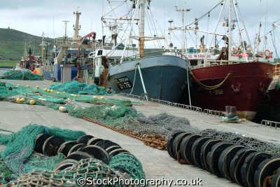 fishing boats dingle marine misc. nets trawlers kerry ciarraí republic ireland eire irish irland irlanda europe european