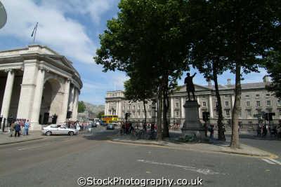 college green dublin irish towns european travel áth cliath republic ireland eire irland irlanda europe
