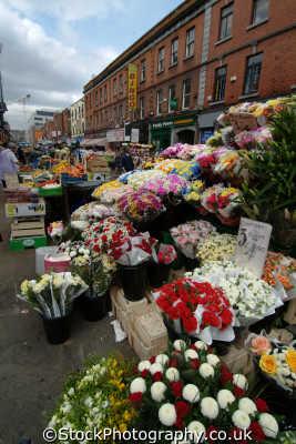 flower stall dublin irish towns european travel florist áth cliath republic ireland eire irland irlanda europe