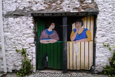 painted doors killarney art creative artistic arts misc. fishwives kerry ciarraí republic ireland eire irish irland irlanda europe european