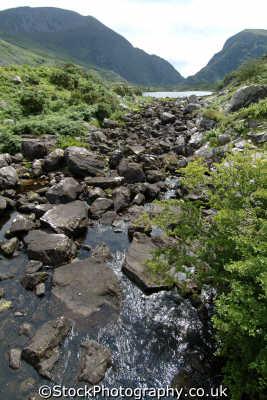 stream rocks gap dunloe moorland countryside rural environmental uk kerry ciarraí republic ireland eire irish irland irlanda europe european