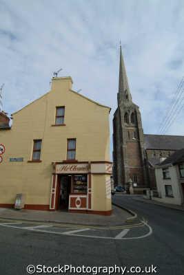 corner shop church immaculate conception wexford irish towns european travel republic ireland eire irland irlanda europe