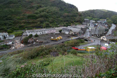 boscastle day flood environmental uk disaster floods flooding global warming cornwall cornish england english angleterre inghilterra inglaterra united kingdom british