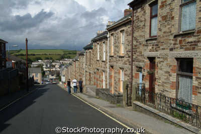 bodmin terraced housing uk houses british homes dwellings abode architecture architectural buildings cornish cornwall england english angleterre inghilterra inglaterra united kingdom