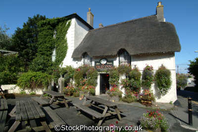 old inn mullion public houses tavern bar alchohol british architecture architectural buildings uk thatched lizard cornwall cornish england english angleterre inghilterra inglaterra united kingdom