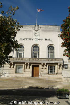 hackney town hall halls local government buildings architecture london capital england english uk council cockney angleterre inghilterra inglaterra united kingdom british