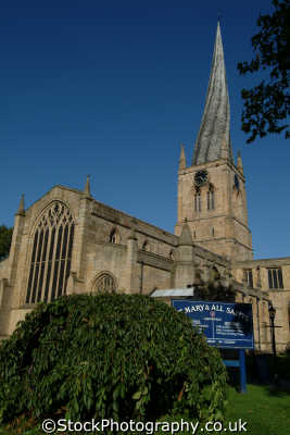 st marys church crooked spire chesterfield uk churches worship religion christian british architecture architectural buildings twisted derbyshire england english angleterre inghilterra inglaterra united kingdom
