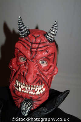 man demon devil mask costumes costumed people persons evil satanic hounslow london cockney england english angleterre inghilterra inglaterra united kingdom british