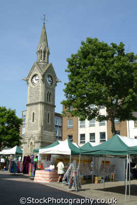 aylesbury market square clock tower south east towns southeast england english uk ailsbury alesbury buckinghamshire bucks angleterre inghilterra inglaterra united kingdom british