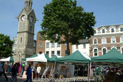 aylesbury market square clock tower south east towns southeast england english uk ailsbury alesbury buckinghamshire bucks angleterre inghilterra inglaterra united kingdom british