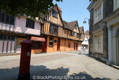 ipswich timber framed building medieval silent street half timbered buildings historical uk history british architecture architectural tudor suffolk england english angleterre inghilterra inglaterra united kingdom
