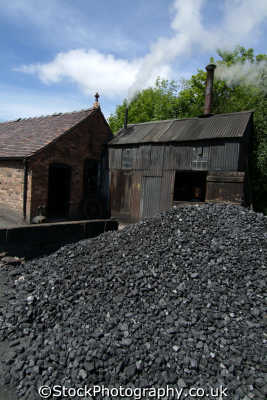 coal piled workings uk industrial buildings british architecture architectural shropshire england english angleterre inghilterra inglaterra united kingdom