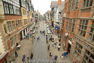 chester aerial view foregate street north west northwest england english uk cestrian cheshire angleterre inghilterra inglaterra united kingdom british