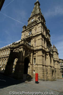 halifax town hall uk halls government buildings british architecture architectural yorkshire england english angleterre inghilterra inglaterra united kingdom