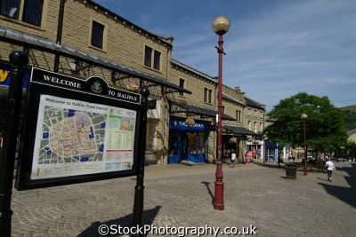 halifax town centre woolshops north east england northeast english uk yorkshire angleterre inghilterra inglaterra united kingdom british