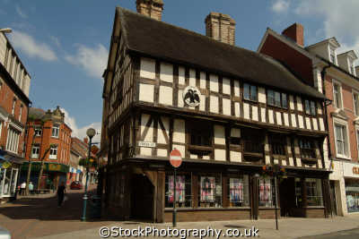 oswestry llwyd mansion half timbered buildings historical uk history british architecture architectural 1604 shropshire england english angleterre inghilterra inglaterra united kingdom
