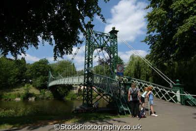 shrewsbury porthill footbridge quarry park river severn uk rivers waterways countryside rural environmental shropshire england english angleterre inghilterra inglaterra united kingdom british