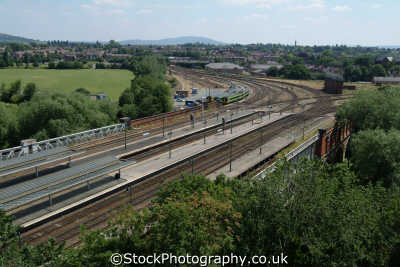 shrewsbury railway lines railways railroads transport transportation uk shropshire england english angleterre inghilterra inglaterra united kingdom british