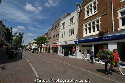 stafford town centre shops goalgate street uk commercial buildings retailers british architecture architectural staffordshire staffs england english angleterre inghilterra inglaterra united kingdom