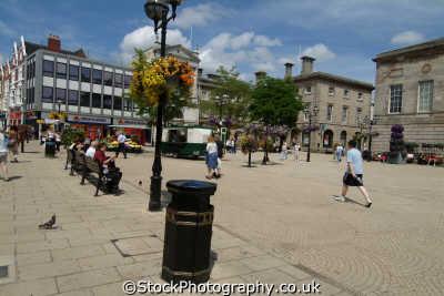 stafford town centre market place midlands england english uk staffordshire staffs angleterre inghilterra inglaterra united kingdom british