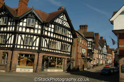 leek staffordshire half timbered buildings historical uk history british architecture architectural framed staffs england english angleterre inghilterra inglaterra united kingdom