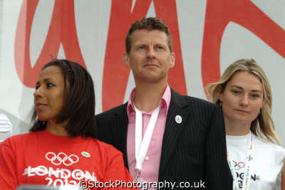british olympic athletes kelly holmes steve cram sarah webb athletics sport sporting celebrities celebrity fame famous star people persons westminster london cockney england english angleterre inghilterra inglaterra united kingdom