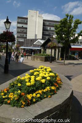 burnley pedestrian area town centre north west northwest england english uk lancashire lancs angleterre inghilterra inglaterra united kingdom british