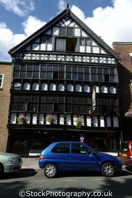 chester bear billet public house half timbered buildings historical uk history british architecture architectural cestrian cheshire england english angleterre inghilterra inglaterra united kingdom
