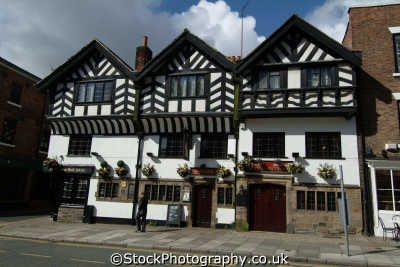 chester olde kings head half timbered buildings historical uk history british architecture architectural cestrian cheshire england english angleterre inghilterra inglaterra united kingdom
