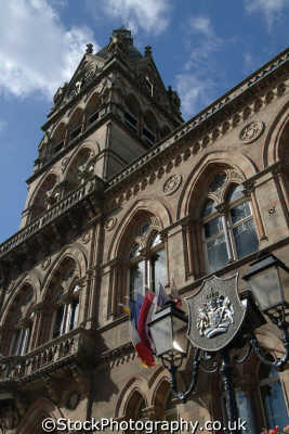 chester town hall coat arms uk halls government buildings british architecture architectural heraldry cestrian cheshire england english angleterre inghilterra inglaterra united kingdom