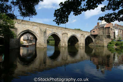 durham elvet bridge river wear reflection uk bridges rivers waterways countryside rural environmental england english angleterre inghilterra inglaterra united kingdom british