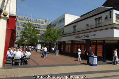 middlesbrough shopping street town centre teeside north east england northeast english uk yorkshire angleterre inghilterra inglaterra united kingdom british