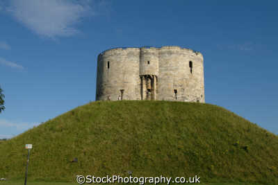 york clifford tower british castles architecture architectural buildings uk yorkshire england english great britain united kingdom