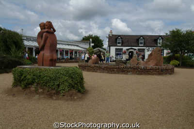 gretna green old blacksmith shop courtyard uk commercial buildings retailers british architecture architectural matrimony elopement dumfries galloway dumfrieshire dumfriesshire scotland scottish scotch scots escocia schottland great britain united kingdom