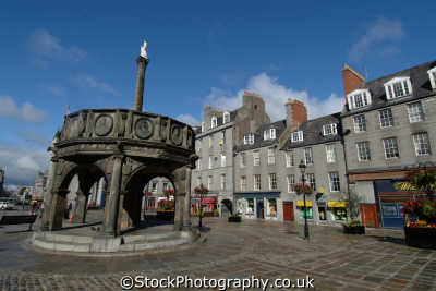 aberdeen mercat cross castlegate uk statues british architecture architectural buildings aberdeenshire scotland scottish scotch scots escocia schottland great britain united kingdom