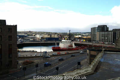 aberdeen harbour upper docks uk coastline coastal environmental aberdeenshire scotland scottish scotch scots escocia schottland great britain united kingdom british