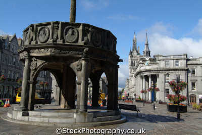 aberdeen mercat cross castlegate british architecture architectural buildings uk aberdeenshire scotland scottish scotch scots escocia schottland great britain united kingdom