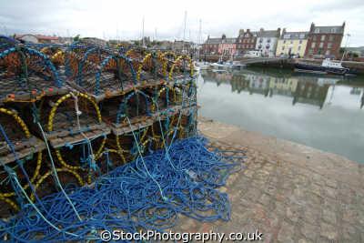 arbroath harbour lobster pots harbor uk coastline coastal environmental angus scotland scottish scotch scots escocia schottland great britain united kingdom british