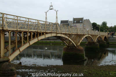 ayr iron footbridge uk bridges rivers waterways countryside rural environmental river ayrshire scotland scottish scotch scots escocia schottland great britain united kingdom british