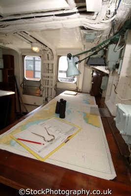 royal yacht britannia chart room boats marine misc. visitor attraction navigation edinburgh midlothian central scotland scottish scotch scots escocia schottland great britain united kingdom british