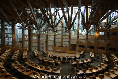 scottish parliament building holyrood debating chamber paliament uk government buildings british architecture architectural edinburgh midlothian central scotland scotch scots escocia schottland great britain united kingdom