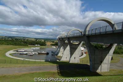falkirk wheel viaduct marina uk theme parks amusement tourist attractions leisure stirlingshire scotland scottish scotch scots escocia schottland great britain united kingdom british