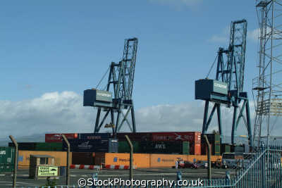 greenock clydeport docks uk coastline coastal environmental container port cranes inverclyde scotland scottish scotch scots escocia schottland great britain united kingdom british