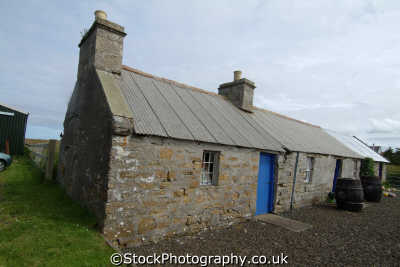 crofters cottages caithness uk british housing houses homes dwellings abode architecture architectural buildings poor highlands islands scotland scottish scotch scots escocia schottland great britain united kingdom