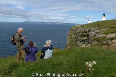 hikers cliffs dunnet head caithness uk coastline coastal environmental twitchers bird watching highlands islands scotland scottish scotch scots escocia schottland great britain united kingdom british