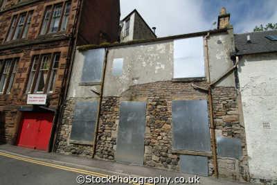 kilmarnock boarded buildings uk commercial retailers british architecture architectural derelict ayrshire scotland scottish scotch scots escocia schottland great britain united kingdom