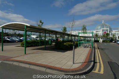 livingston typical landscape car parks pedestrian walkways shopping outlets uk towns environmental west lothian scotland scottish scotch scots escocia schottland great britain united kingdom british